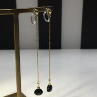 Deadstock Marron Onyx nonhole earrings