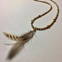 Feather top Jasper necklace (unisex)
