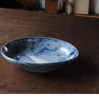 24 瑠璃染付オーバル皿