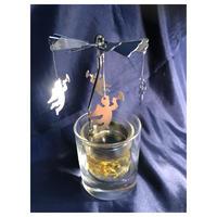 天使のロータリーキャンドル【ミモザ】彫刻料込