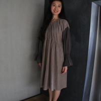 UJU[ウジュ] / へリンボーンWガーゼワンピース(ladies)