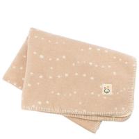 メイド・イン・アース オーガニックコットン 日本製 綿毛布【ハーフケット/かぜ/茶】