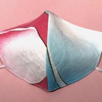 浴衣マスク(虹のパステル) Japanese yukata  mask- like rainbow
