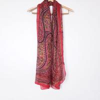 ストール100%シルク Silk stole - foulard en soie / rouge