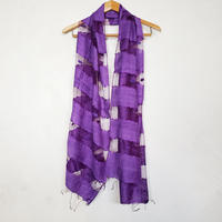 シルクコットン ストール・silk cotton stole - foulard / violet
