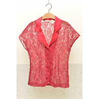 VICTORIAS SECRET  80'S Flower Pattern Lace Shirt
