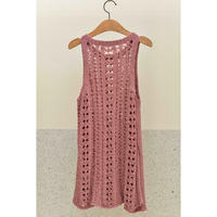 Salmon Pink Sleeveless Knit Top
