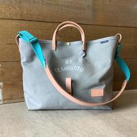 帆布LIFE Bag(グレー×ターコイズ×ヴァーミリオン)