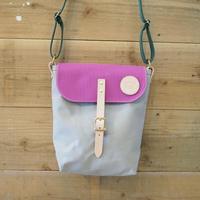 帆布ポスティングバッグ(グレー×パープル×ダークグリーン)