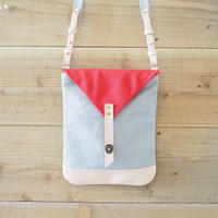 帆布Book Bag(グレー×レッド)
