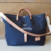 帆布LIFE Bag(ブラック×ホワイト)