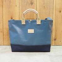 Two Fabrics Bag(ネイビー×ネイビー×サンドベージュ)