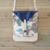 帆布Book Bag(カモフラ×ネイビー)