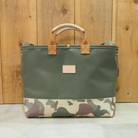 Two Fabrics Bag(カーキ×カモフラージュ×キャメル)