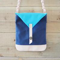 帆布Book Bag(ネイビー×ターコイズ)