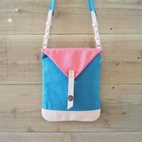 帆布Book Bag(シアンブルー×ヴァーミリオン)