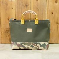Two Fabrics Bag(カーキ×カモフラージュ×マスタード)