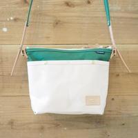 帆布ミニショルダー(ホワイト×グリーン)