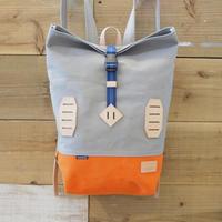 帆布BAGPACK(グレー×オレンジ×ブルー)