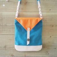 帆布Book Bag(シアンブルー×オレンジ)