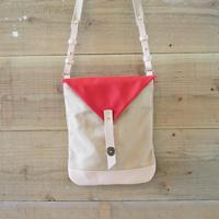 帆布Book Bag(サンドベージュ×レッド)