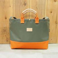 Two Fabrics Bag(カーキ×オレンジ)