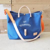 帆布LIFE Bag(ブルー×オレンジ)