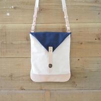 帆布Book Bag(ホワイト×ネイビー)