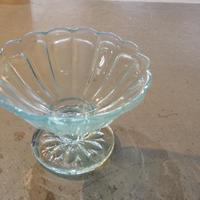 ガラス氷皿 淡い水色