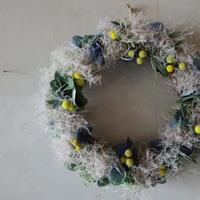 スモークツリーと紫陽花のリース