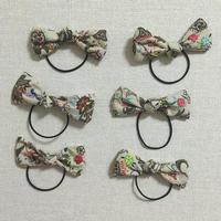 KODOMOリボン刺繍ヘアゴム