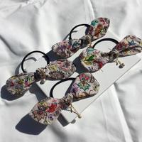 OTONAリボン刺繍ヘアゴム