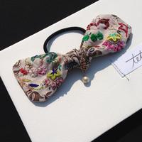 刺繍リボンヘアゴム カラフル soldout