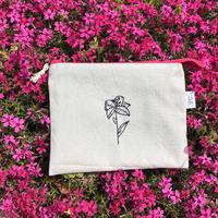 刺繍ポーチ flower