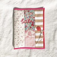 母子手帳ケース(女の子ママ)*名入れ刺繍