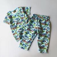 パジャマ 半袖上下セット 恐竜柄_P4003