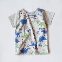恐竜総柄 Tシャツ
