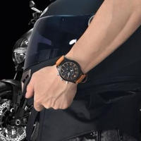 BENYAR 新作 トップブランド メンズ 腕時計 クオーツクロノグラフ 夜光 カレンダー アウトドア カジュアル 30m 防水 日本未発売 2色 ブラック&オレンジ/ブラック&ホワイト