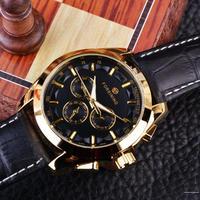 FORSININGトップブランド メンズ 腕時計 全自動 カレンダー クロノグラフ アウトドア カジュアル 30m 防水  ラインナップ 全色