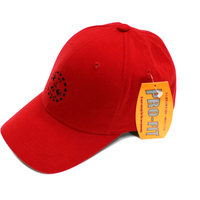 九州新幹線800系 つばめ-TSUBAMEエンブレムキャップ 赤 【TE027】