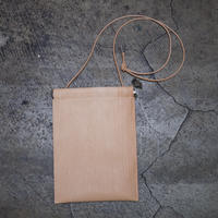 SPRING CAP BAG / FAKE WOOD LEATHER