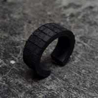 GRID LEATHER BANGLE