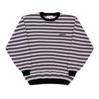 YARDSALE / Stripe Knit Crew (White/Red)