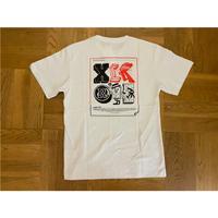 XLARGE S/STEE XLARGE×123KLAN STICKER(WHITE)
