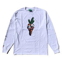 Carrots by Anwar Carrots | CARROTS × NATHAN NANKERVIS CARROTS FACE LONG SLEEVE (WHITE)