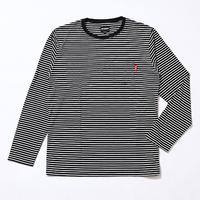 Oh!theGuilt:LYOCELL BORDER POCKET L/S T-SHIRT(ブラック/ホワイト)