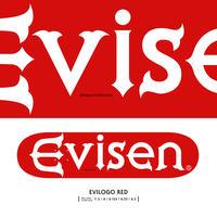 "EVISEN SKATEBOARDSゑ®︎ / EVI LOGO RED ""8.0/8.125/8.25"""