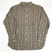 Oh!theGuilt: BIG SILHOUETTE PLAID BD SHIRT(ベージュ/ブラック/ホワイト)