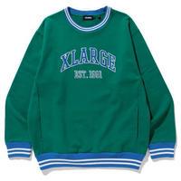 XLARGE|RIB LINE CREWNECK SWEAT(GREEN)