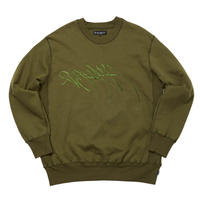 WHIMSY / RUNNERZ REJECT LOGO CREWNECK  (OLIVE)